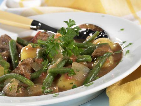 Rezept: Lammeintopf mit grünen Bohnen und Kartoffeln