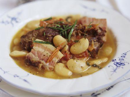 Lammeintopf mit weißen Bohnen