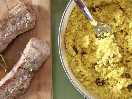Lammlachs auf Couscous: Zubereitungsschritt 6