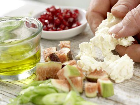 Lammfilet auf Portulak-Rucola-Salat: Zubereitungsschritt 4