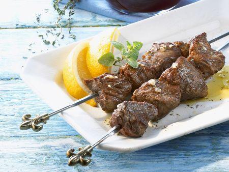 Rezept: Lammfleischspieße mit Thymian
