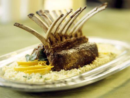 Rezept: Lammkarree mit Couscous