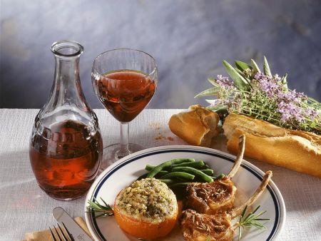 Lammkoteletts mit Gemüse