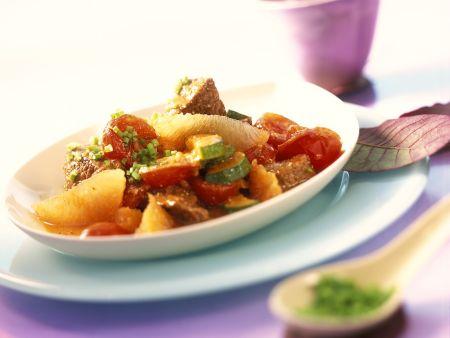 Lammragout mit Zitrus-Gemüse