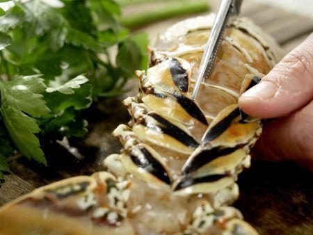 Langusten-Kokos-Suppe: Zubereitungsschritt 1