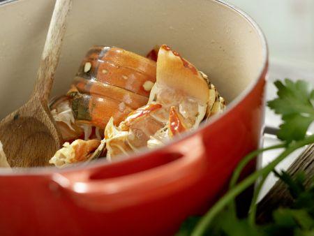 Langusten-Kokos-Suppe: Zubereitungsschritt 4