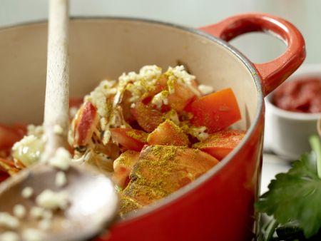 Langusten-Kokos-Suppe: Zubereitungsschritt 6