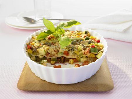 Lasagne mit buntem Gemüse