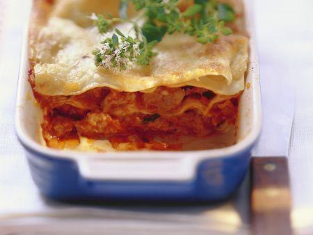 Lasagne mit Hähnchenbolognese