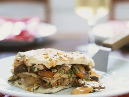 Rezept: Lasagne mit Pilzen