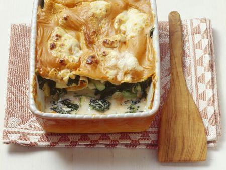 Rezept: Lasagne mit Rucola und Gemüse