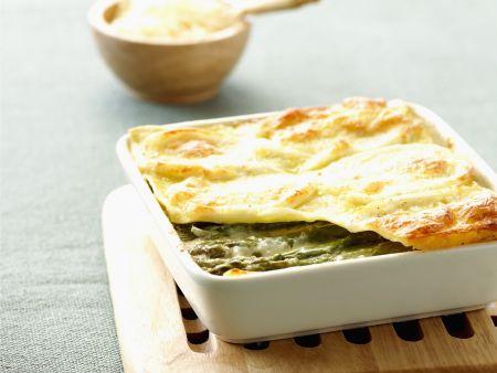 Rezept: Lasagne mit Spargel