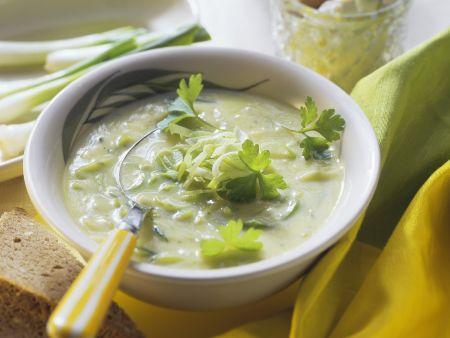 Lauch-Frischkäse-Suppe