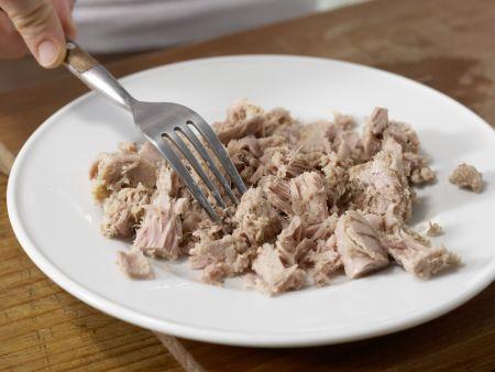 Lauch-Spaghetti mit Thunfischsauce: Zubereitungsschritt 3