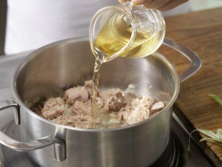 Lauch-Spaghetti mit Thunfischsauce: Zubereitungsschritt 5