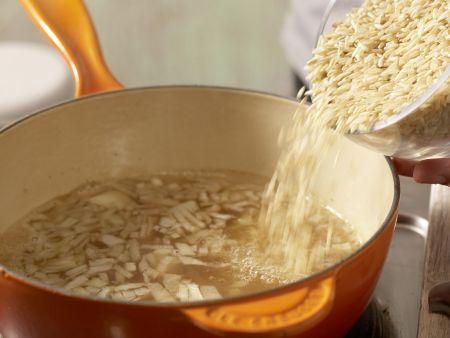 Lauwarme Reisfrikadellen: Zubereitungsschritt 2