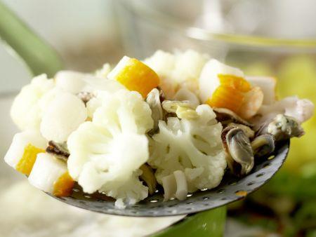 Lauwarmer Meeresfrüchtesalat: Zubereitungsschritt 7
