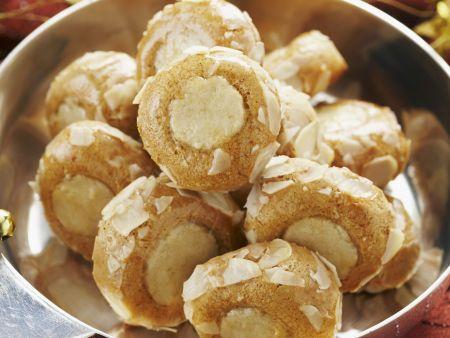 Lebkuchen-Marzipan-Plätzchen