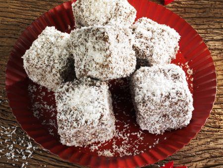 Lebkuchenwürfel mit Kokos