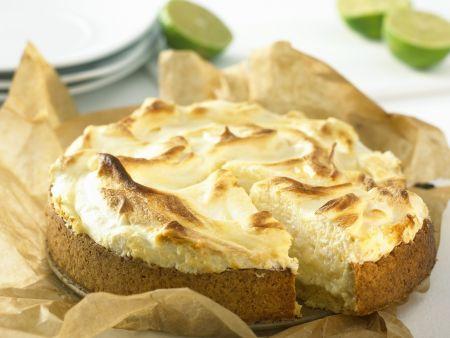 Limetten-Baiser-Kuchen