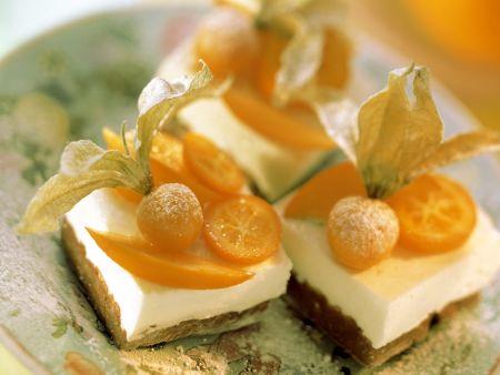 Rezept: Limetten-Joghurt-Schnitten mit Südfrüchten