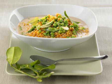 Linsen-Curry mit Erbsen