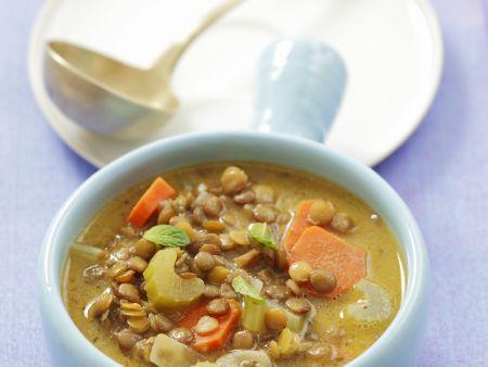 Linsen-Gemüse-Suppe
