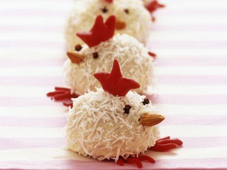 Lustige Kokos-Hühner