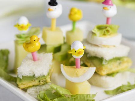 Rezept: Lustige Sandwich-Spieße