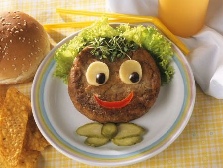 Lustiger Kinder-Hamburger