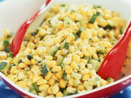 Maissalat mit Zucchini