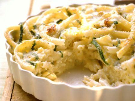 Makkaroni-Zucchini-Gratin