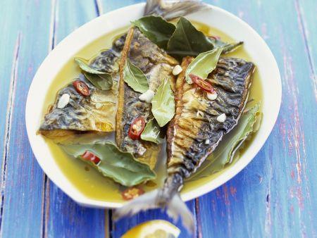 Makrele mit würziger Marinade