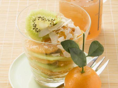 Rezept: Mandarinen-Kiwi-Salat