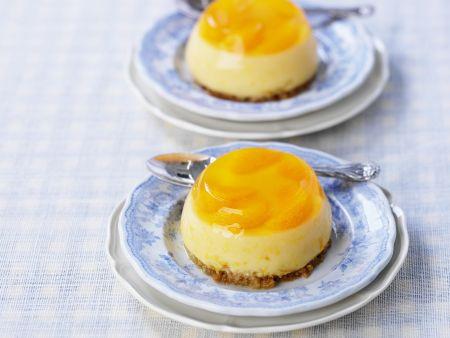 Mandarinenpudding mit Keksboden