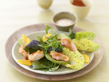 Mango-Curry-Salat mit Hühnchen