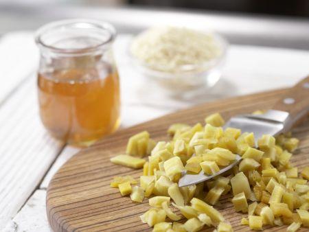 Mango-Mandel-Würfel: Zubereitungsschritt 1