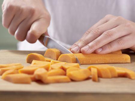 Mangold-Möhren-Gemüse: Zubereitungsschritt 1