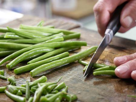 Marinierte grüne Bohnen: Zubereitungsschritt 1