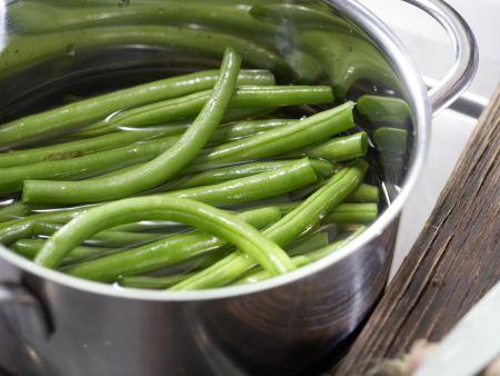 Marinierte grüne Bohnen: Zubereitungsschritt 2
