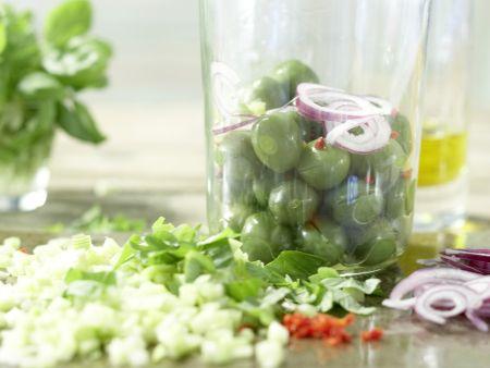 Marinierte grüne Oliven: Zubereitungsschritt 6