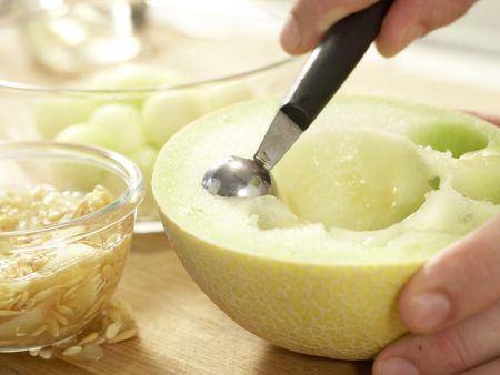 Marinierte Melonenkugeln: Zubereitungsschritt 4