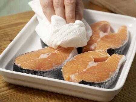 Marinierter Lachs auf Fenchelgemüse: Zubereitungsschritt 2