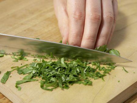 Marinierter Romanesco auf Feldsalat: Zubereitungsschritt 7
