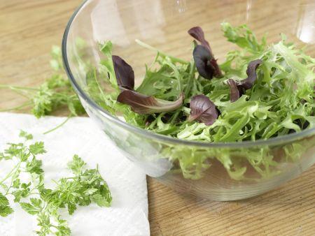 Mariniertes Rinderfilet auf Blattsalat: Zubereitungsschritt 3
