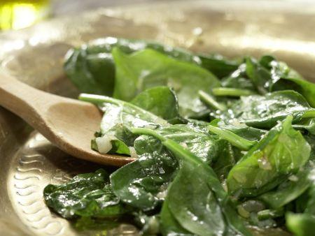Marokkanischer Spinatsalat: Zubereitungsschritt 6
