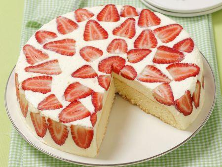 Mascarpone-Erdbeer-Torte
