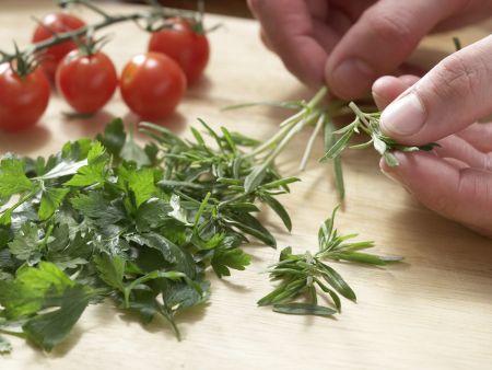 Matjessalat mit Bohnen: Zubereitungsschritt 4