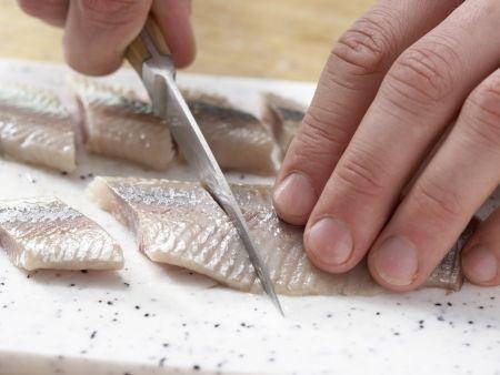 Matjessalat mit Bohnen: Zubereitungsschritt 7