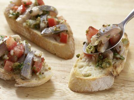Matjessalat auf Crostini: Zubereitungsschritt 8